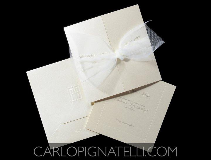 Invitaciones de boda de Carlo Pignatelli