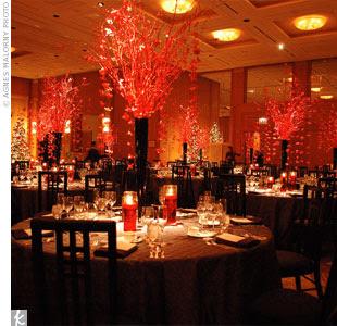 Decoraciones de boda en rojo
