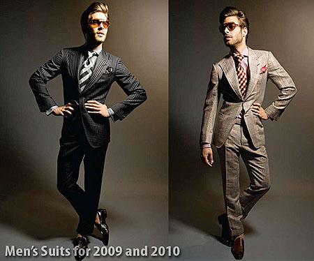 ... serán las tendencias para los trajes de hombre en el 2009 y 2010