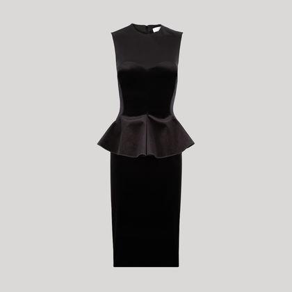 vestido coctel negro