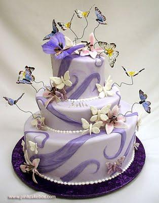 pastel de boda con mariposas 2