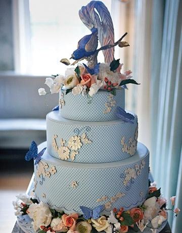 Pasteles de boda para la primavera 2014