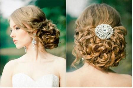 Peinados novia con ondas