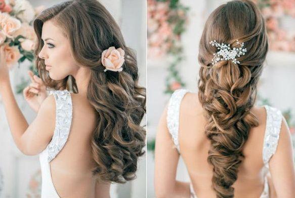 Peinados de novia con ondas primavera 2014