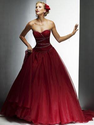 Vestidos para novia rojos
